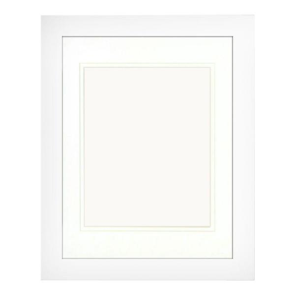 1-Opening 8 in x 10 in. Matted White Portrait Frame (Set of 2)