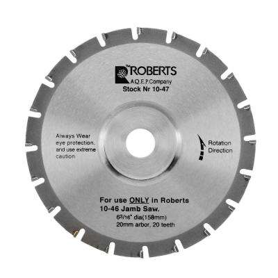 6-3/16 in. 20-Tooth Carbide Tip Saw Blade