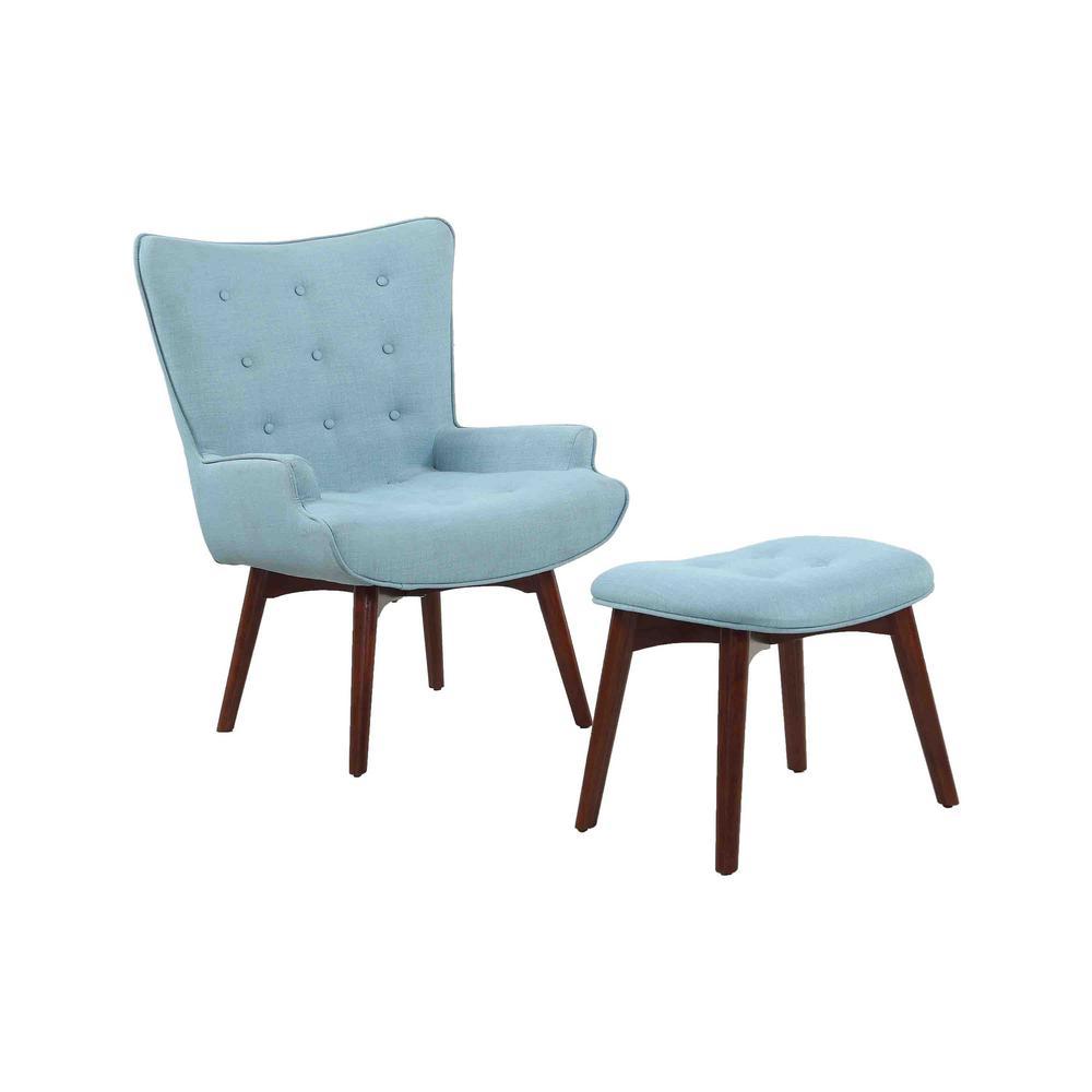 Polk Capri Accent Chair with Ottoman Set