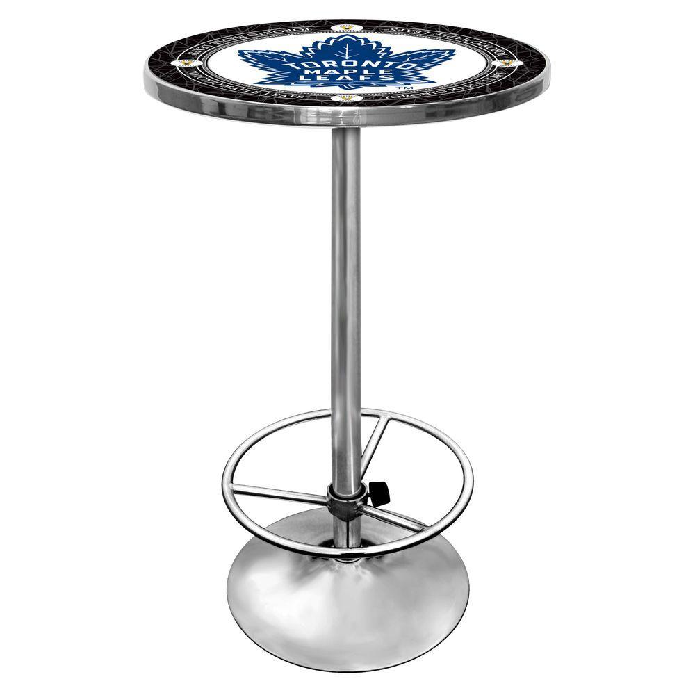 NHL Toronto Maple Leafs Chrome Pub/Bar Table