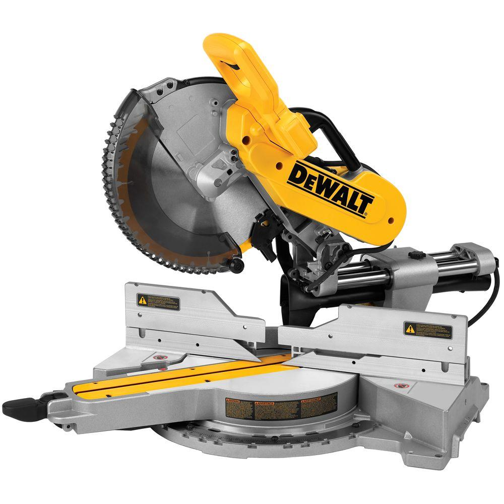 Dewalt 15 amp corded 12 in double bevel sliding compound miter saw double bevel sliding compound miter saw dws779 the home depot greentooth Image collections
