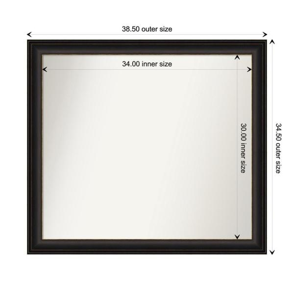 Amanti Art Medium Rectangle Espresso Brown Classic Mirror 34 5 In H X 38 5 In W Dsw5065683 The Home Depot