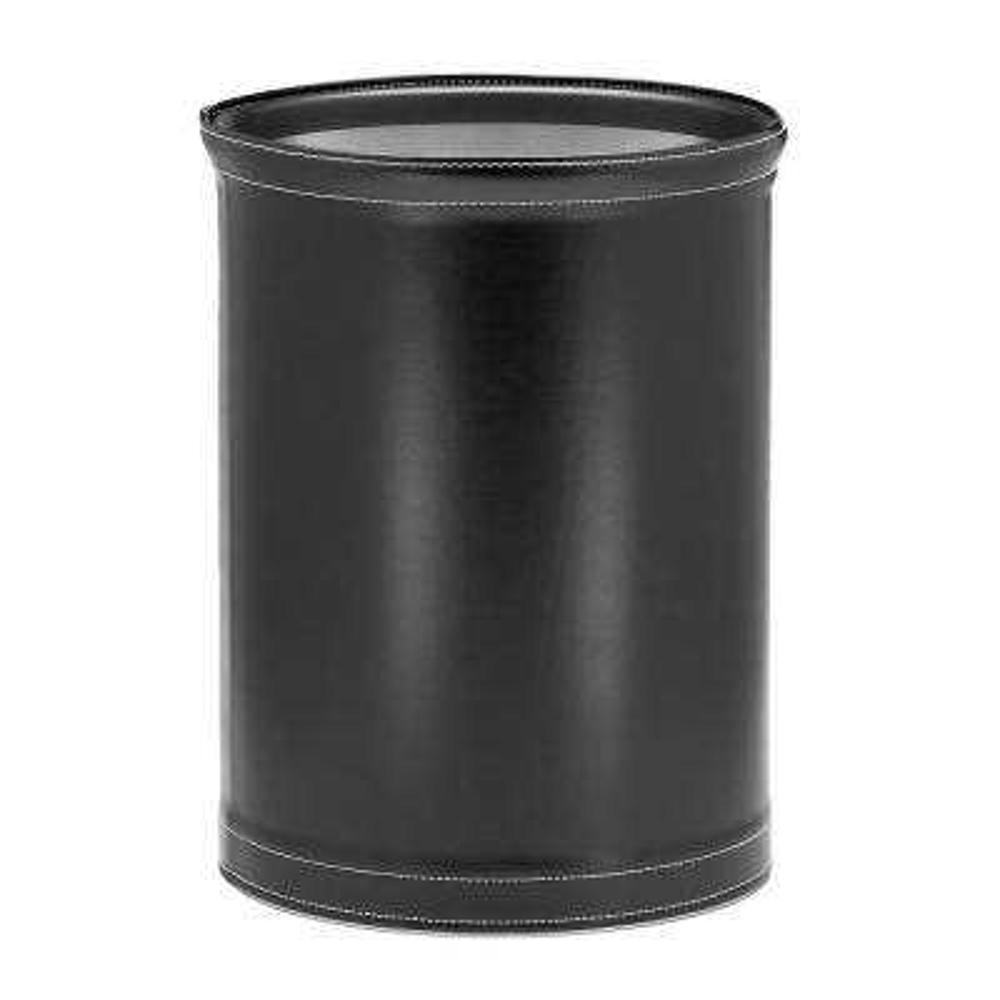 Stitched Black 13 Qt. Oval Waste Basket