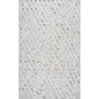 Cowhide Grenier Grey 9 ft. x 12 ft. Area Rug