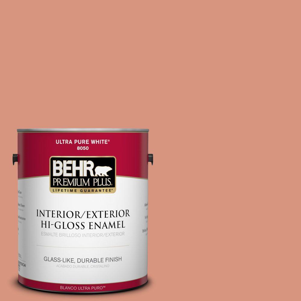 1-gal. #BIC-17 Tropical Blooms Hi-Gloss Enamel Interior/Exterior Paint