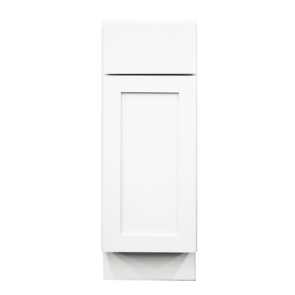 Frosted White Shaker II Ready to Assemble 15x34.5x24 in. 1 Door