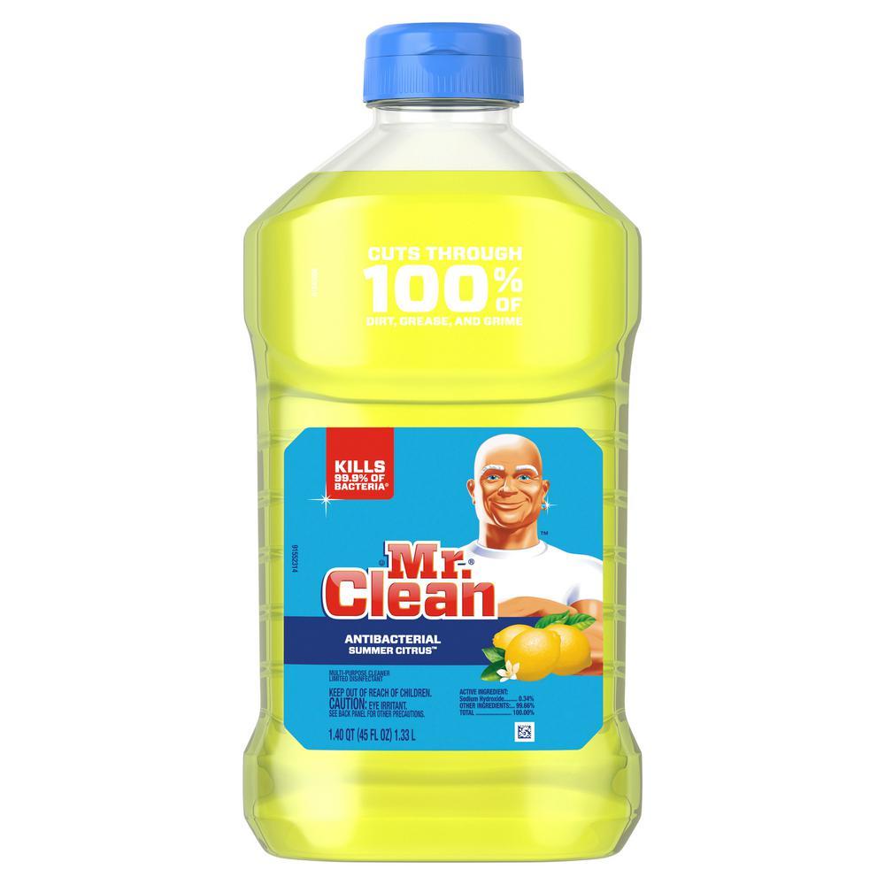 Mr Clean 45 Oz Antibacterial Summer Citrus Scent Multi Surface Cleaner