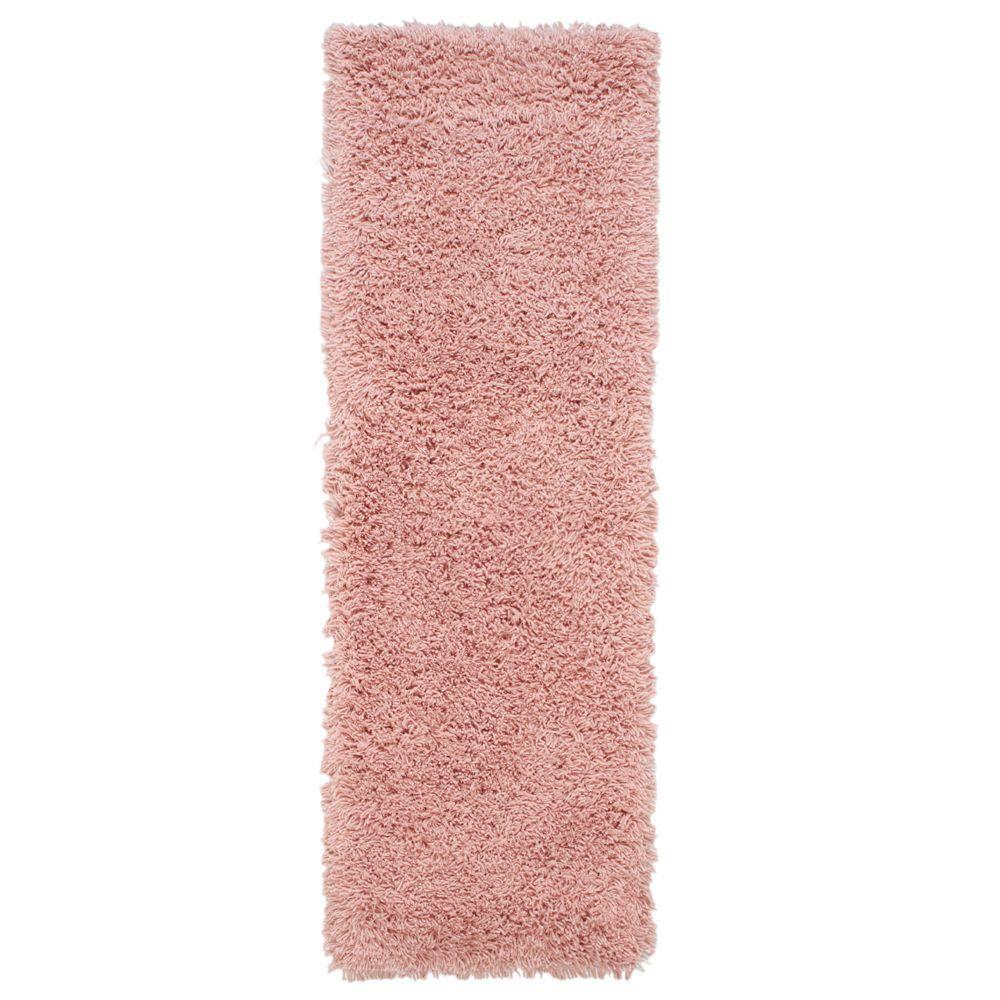 Ultimate Shag Pink 3 ft. x 8 ft. Runner Rug