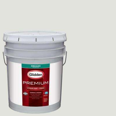 5 gal. #HDGCN48 Stone White Semi-Gloss Interior Paint with Primer