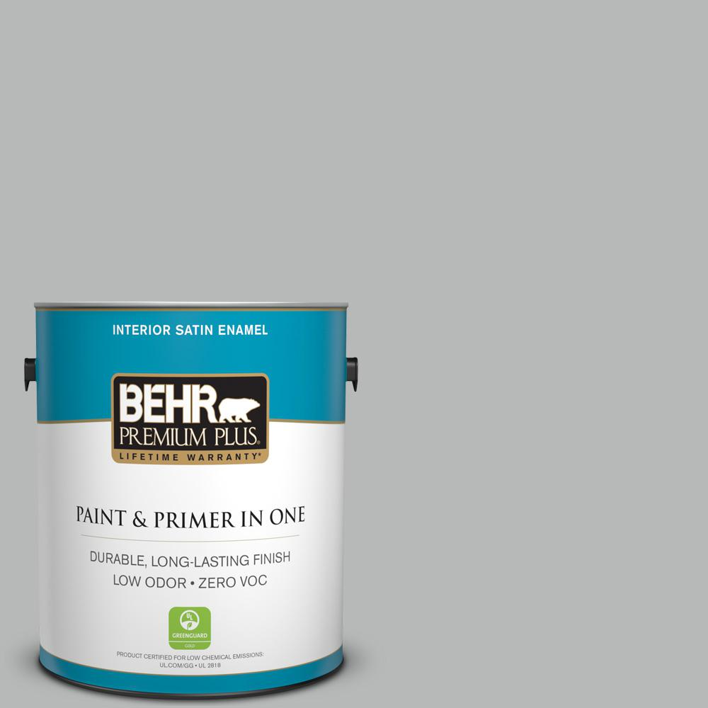 BEHR Premium Plus 1-gal. #N460-3 Lunar Surface Satin Enamel Interior Paint