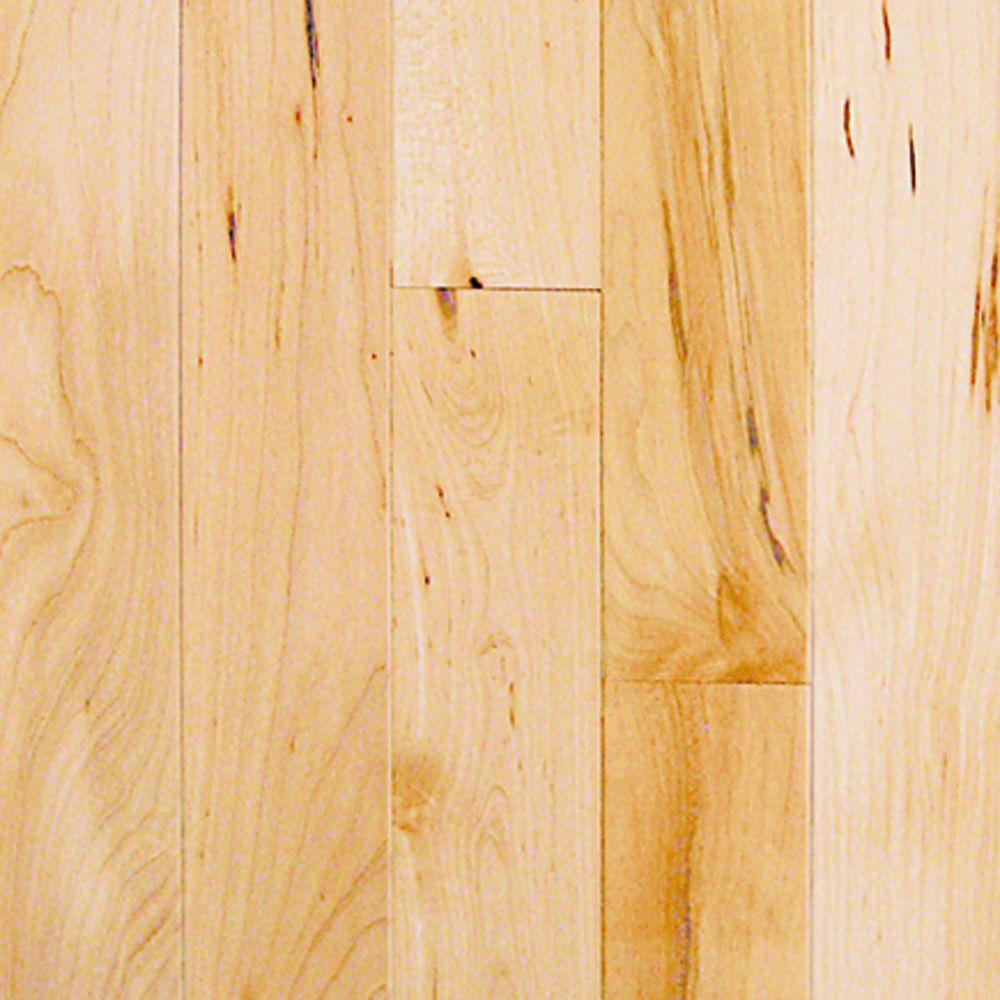 Millstead maple natural 3 4 in thick x 2 1 4 in width x for Real solid wood flooring