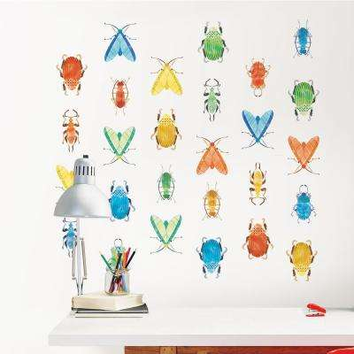 Multi-Color Love Bugs Wall Decal