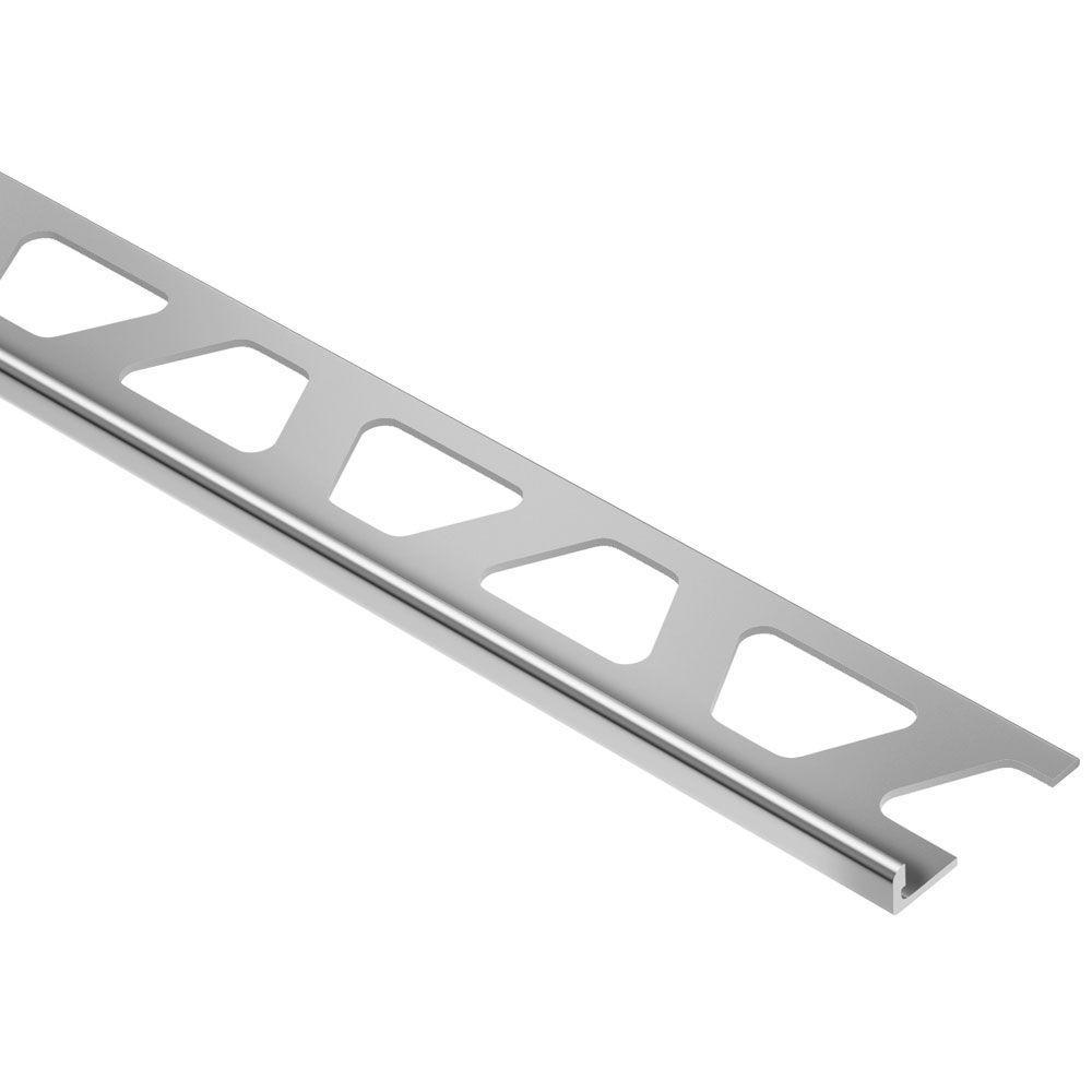 Schiene Aluminum 1/2 in. x 8 ft. 2-1/2 in. Metal L-Angle Tile Edging Trim