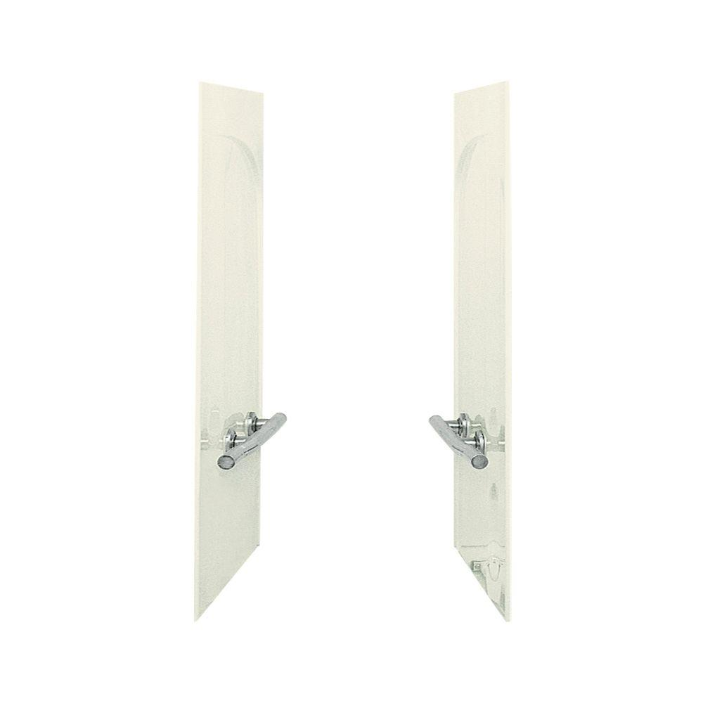 STERLING Acclaim 1-1/2 in. x 31-1/2 in. x 54 in. 2-piece Direct-to-Stud Bath and Shower End Wall Set with Grab Bars in Biscuit