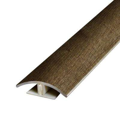 Stony Oak Smoke .37 in. Thick x 1.75 in. Wide x 78.7 in. Length Vinyl 2-in-1 Molding