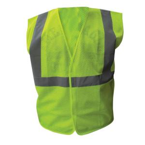 Enguard Size 3X-Large Lime ANSI Class 2 Poly Mesh Economy Safety Vest 2 inch Silver Striping by Enguard
