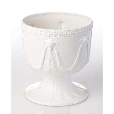 Ramshead Ivory Ceramic Decorative Cachepot Large