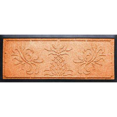 Orange 15 in. x 36 in. x 0.5 in. Pineapple Boot Tray