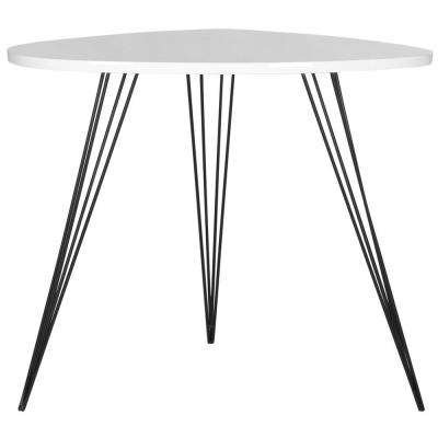 Wynton White and Black End Table