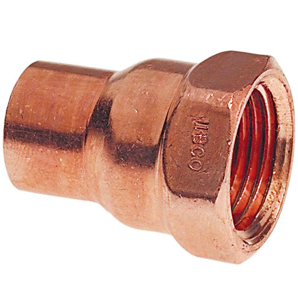 1/2 in  Copper Pressure Cup x FIP Female Adapter Fitting