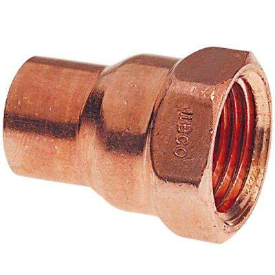 1-1/4 in. Copper Pressure Cup x FIPT Female Adapter