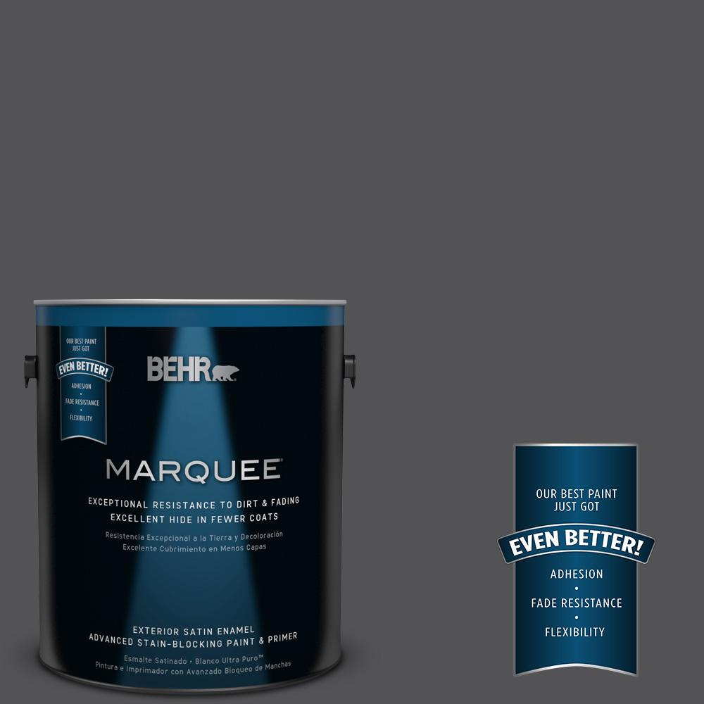 1-gal. #BXC-30 Black Space Satin Enamel Exterior Paint