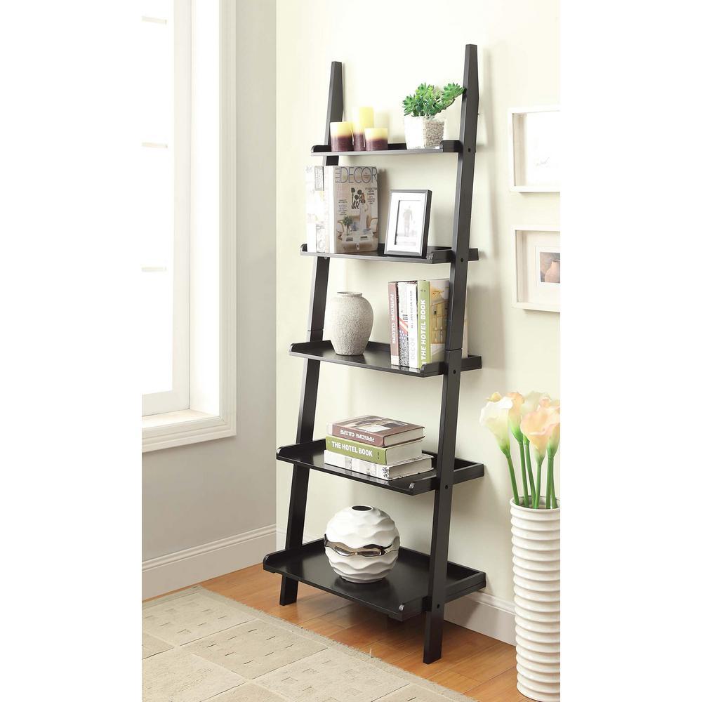 American Heritage Black Ladder Bookcase
