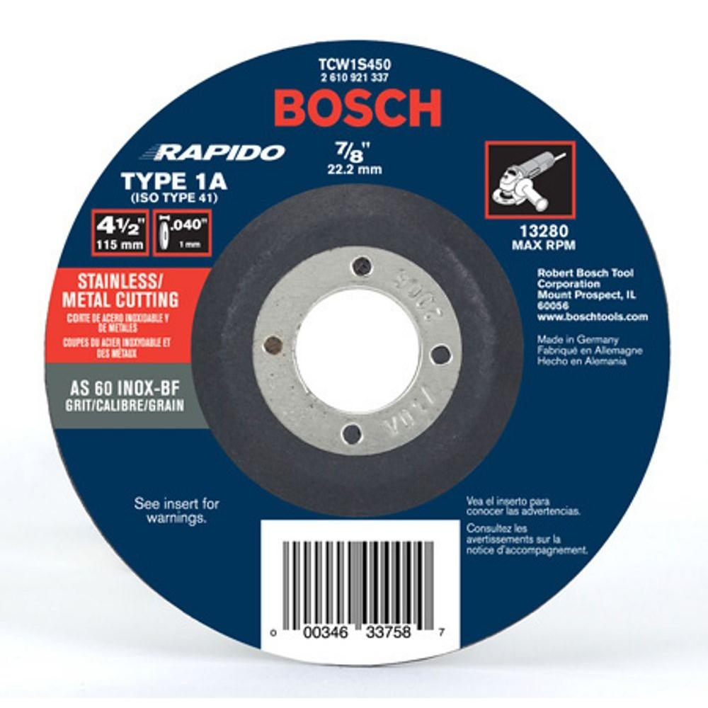 Bosch 4 1 2 In Thin Metal Cut Off Wheel Ideal For