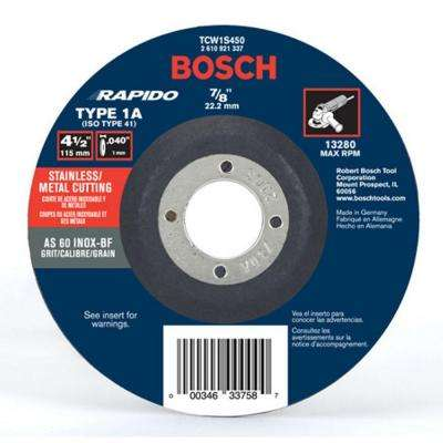4 -1/2 in. Thin Metal Cut-Off Wheel Ideal for Stainless Steel