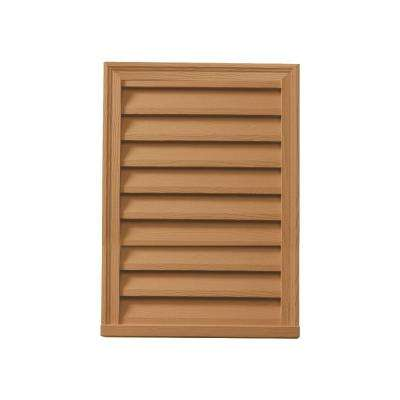 18 in. x 24 in. x 2 in. Polyurethane Timber Functional Vertical Louver Gable Vent