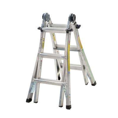 13 ft. Aluminum Telescoping Multi-Position Ladder with 300 lb. Load Capacity Type IA Duty Rating