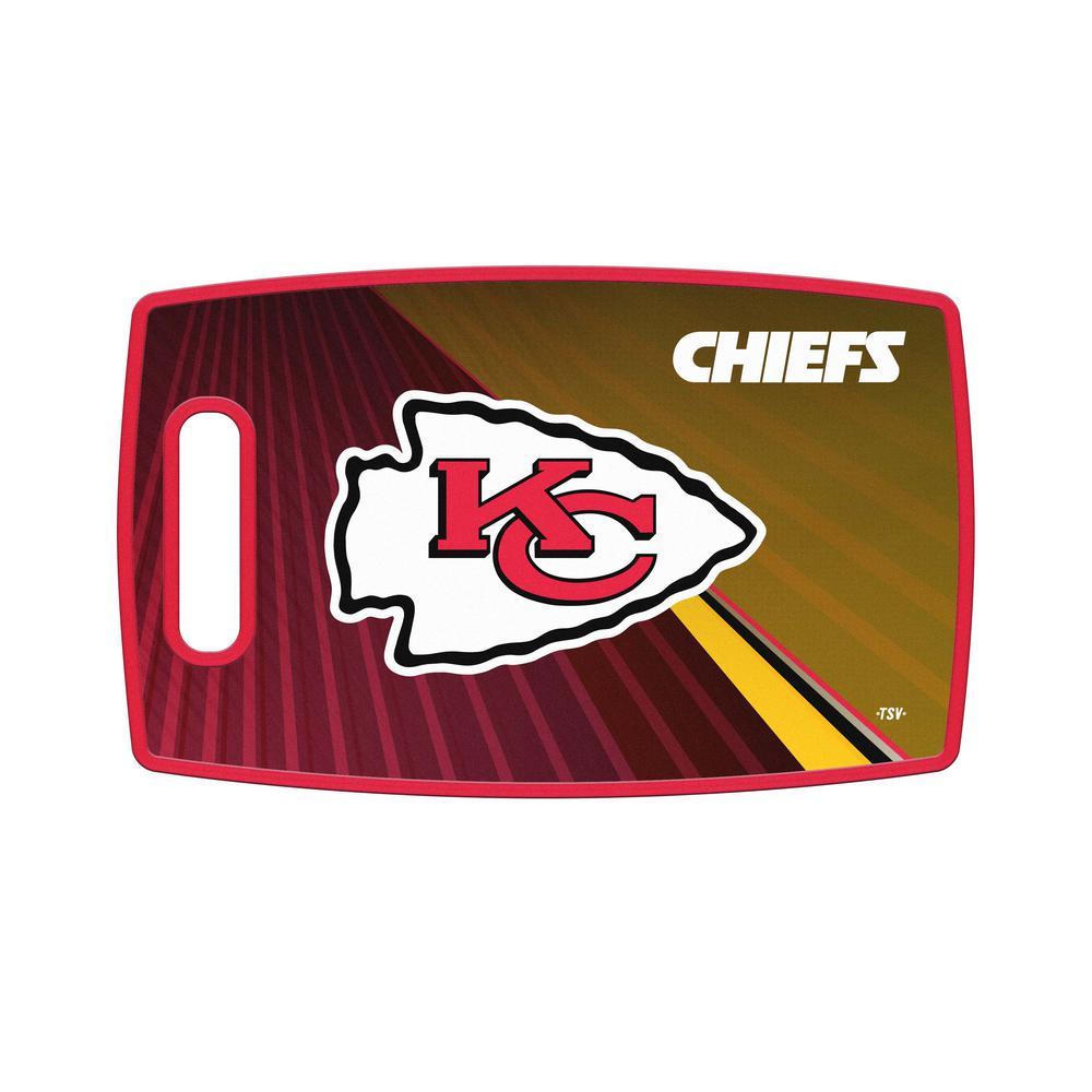 Kansas City Chiefs Large Plastic Cutting Board