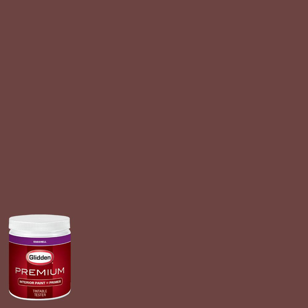 Glidden Premium 8 oz. #wnba-131A Connecticut Sun Dark Red Eggshell Interior Paint with Primer