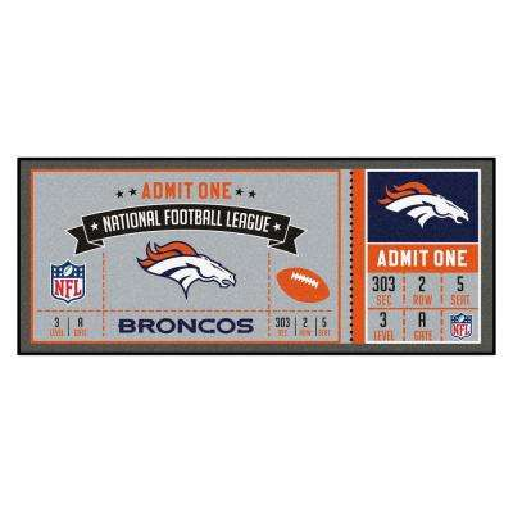 NFL - Denver Broncos 30 in. x 72 in. Indoor Ticket Runner Rug