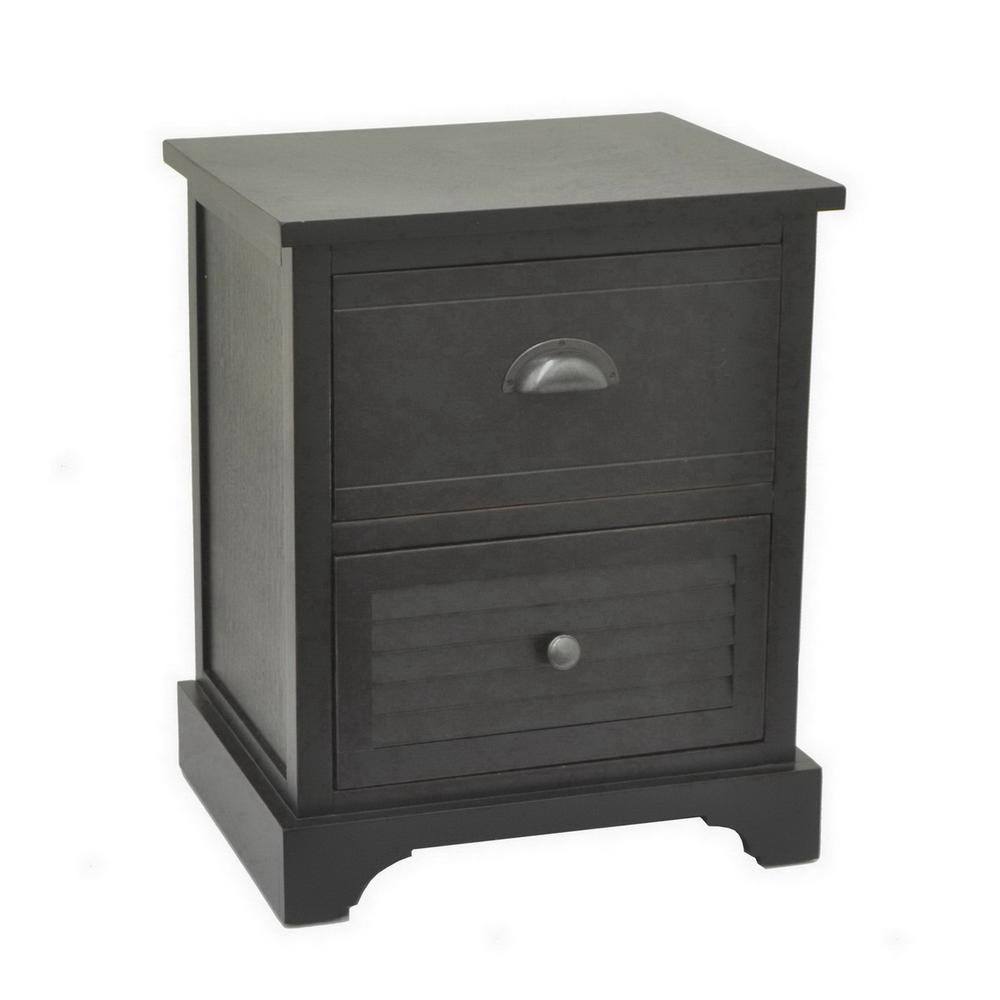 Three Hands 21 5 In Black Wood Cabinet 66172 The Home Depot