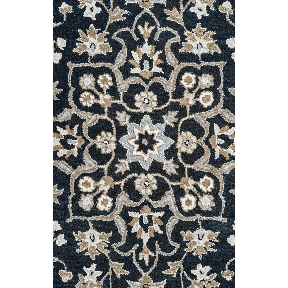 Valintino Black Floral Hand Tufted Wool 8 ft. x 10 ft.