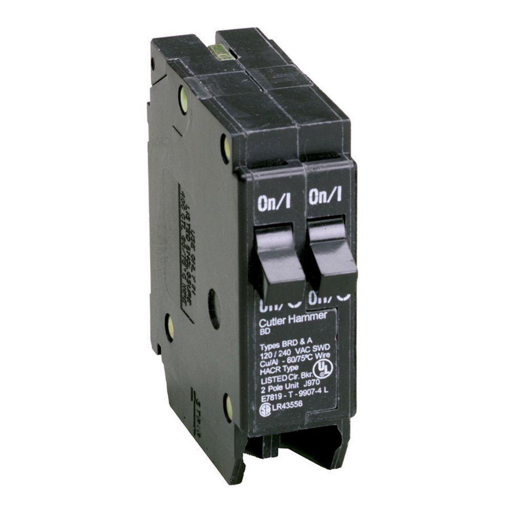 Eaton 15/20 Amp Single-Pole Type BD Tandem BR Circuit Breaker