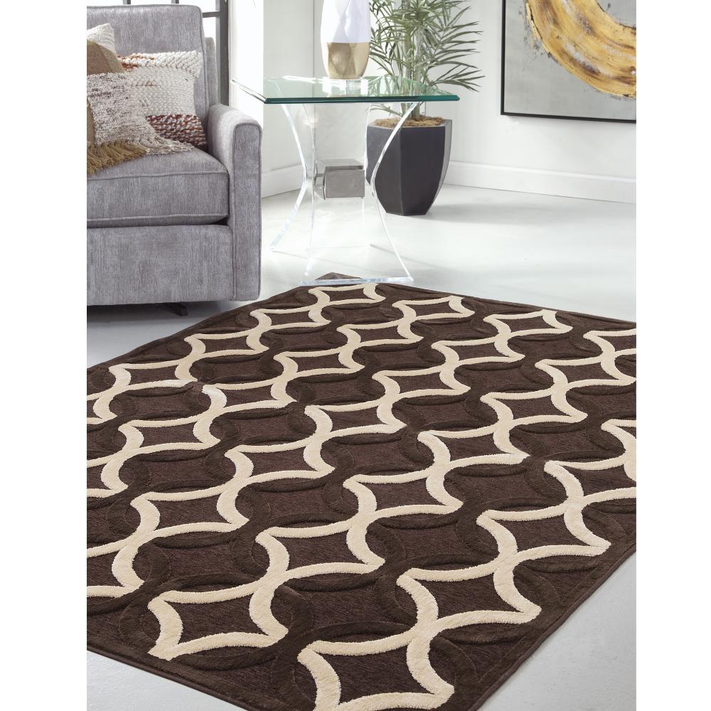 Sams international napa giles chocolate 5 ft 3 in x 7 ft for International decor rugs