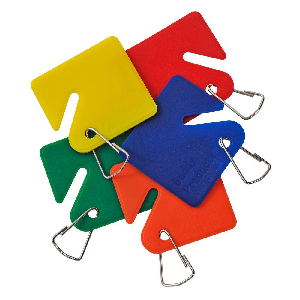 15 Blank Plastic Key Tags Assorted Colors