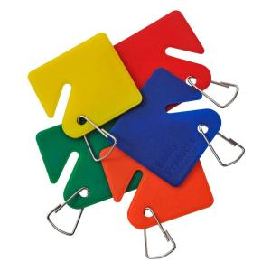 Buddy Products 15 Blank Plastic Key Tags Assorted Colors by Buddy Products