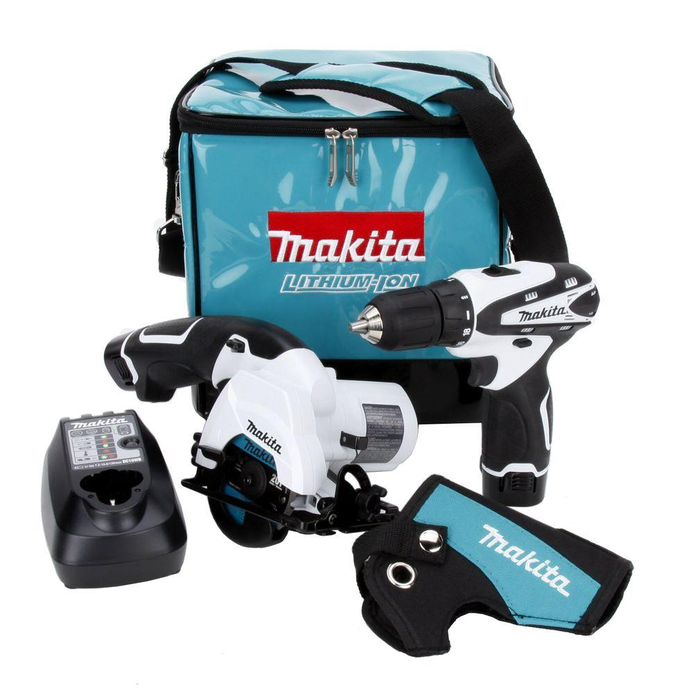 makita 12 volt max lithium ion combo kit 2 tool lct208w the home depot. Black Bedroom Furniture Sets. Home Design Ideas