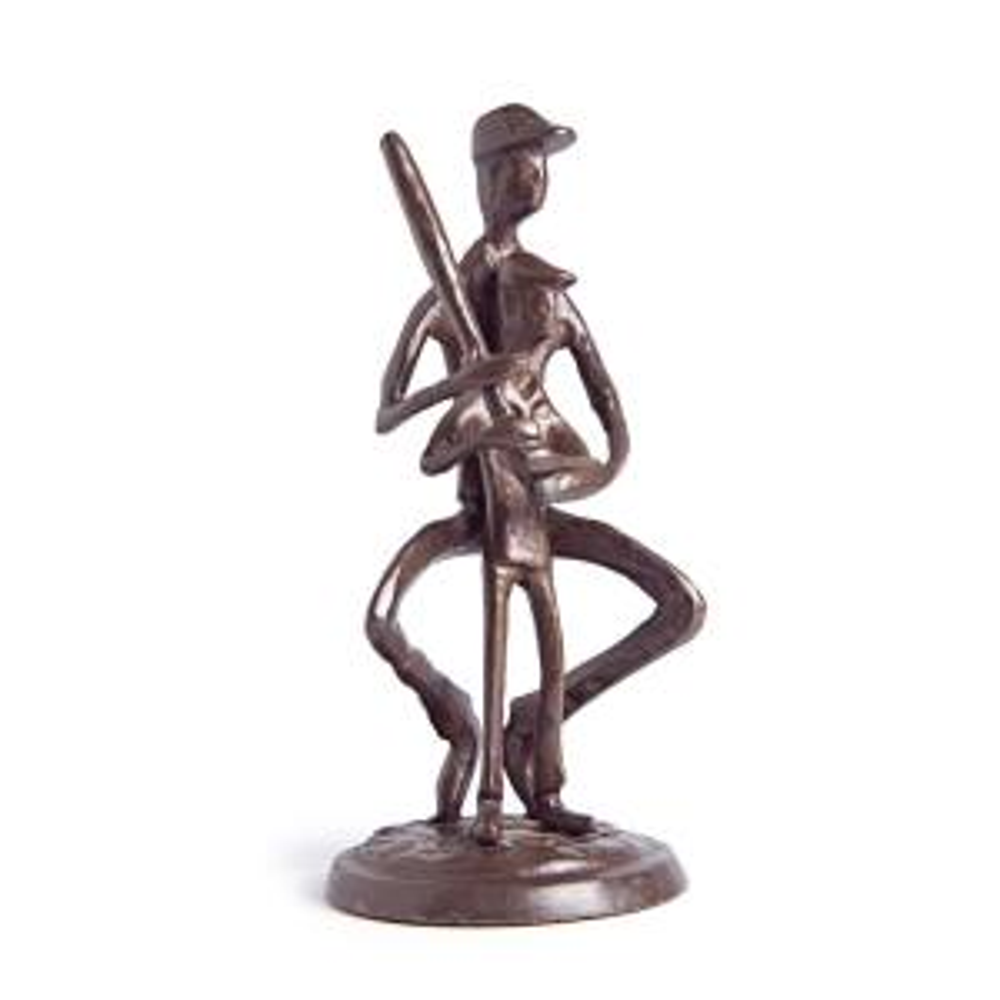 DANYA B Teaching Baseball Human Figure Bronze Sculpture by DANYA B