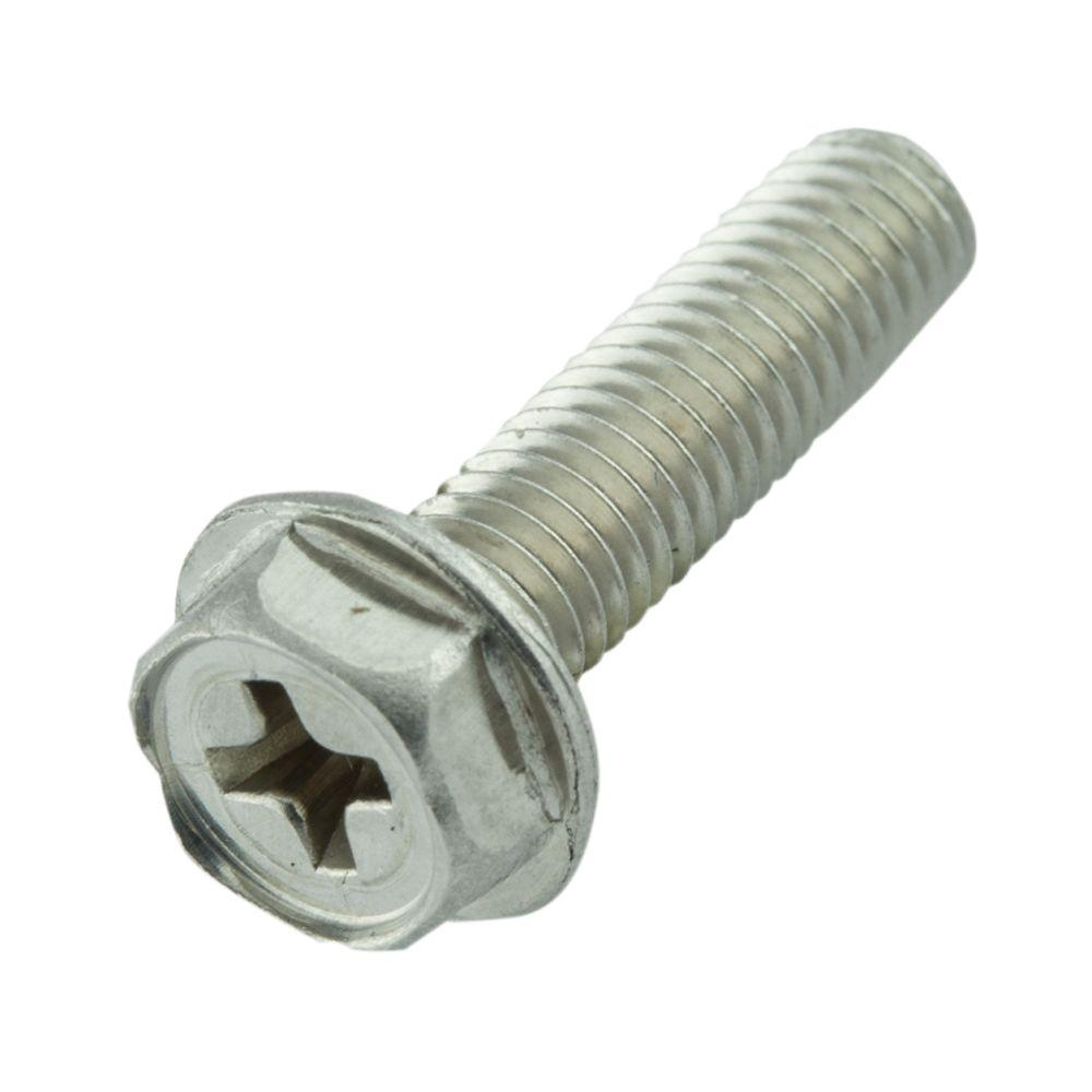 1/4 in.-20 x 1-1/2 in. Phillips Hex-Head Machine Screws (10-Pack)
