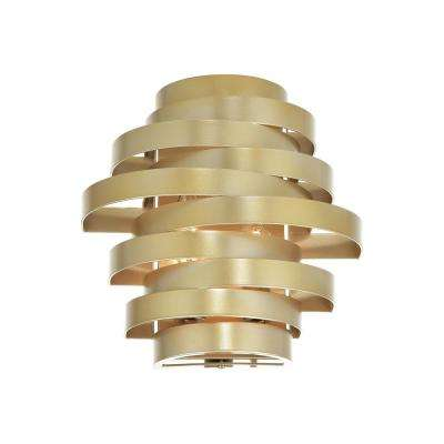 Elizabetta Collection 10 in. Gold Leaf Sconce