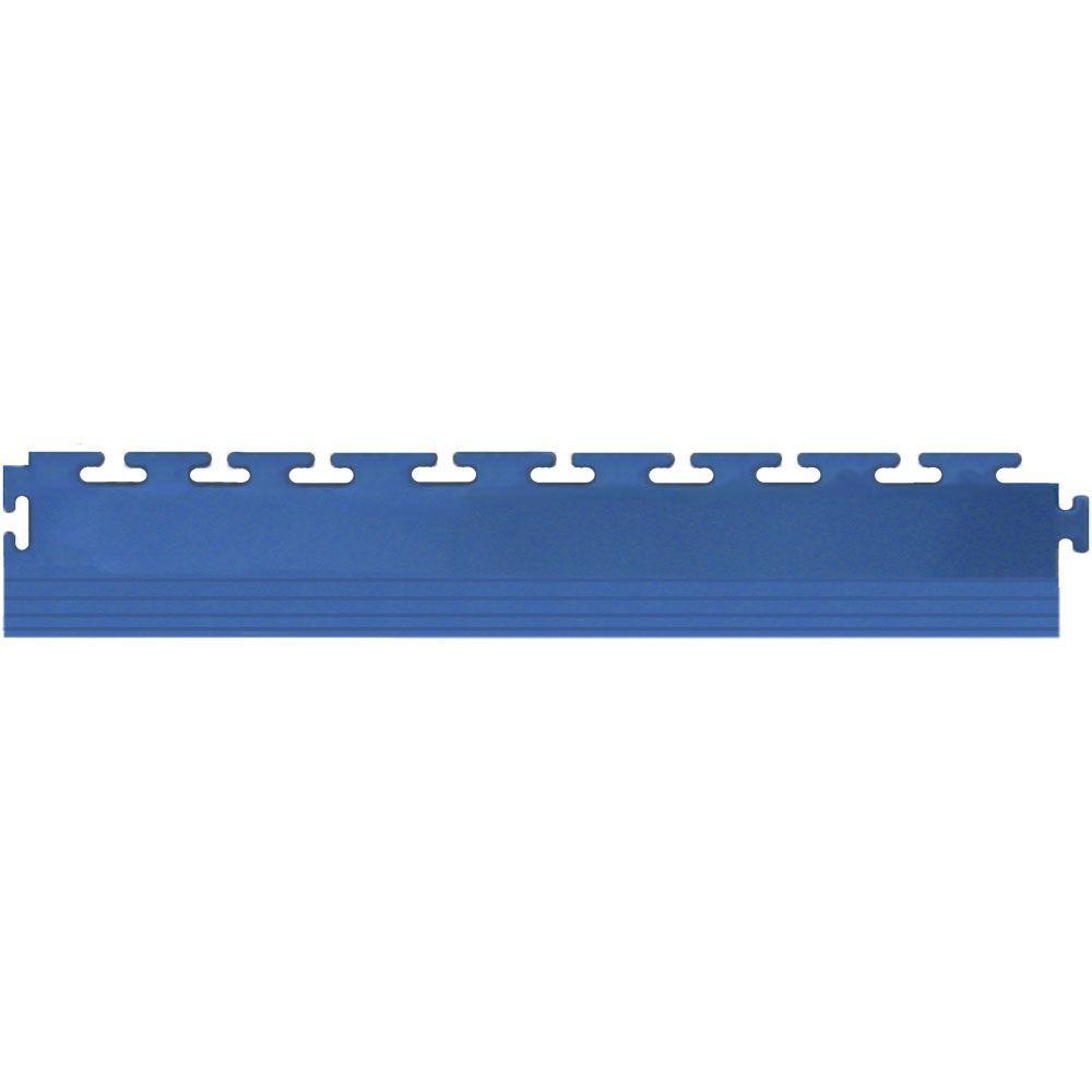 IT-tile 20-1/2 in. x 2-1/2 in. Coin Dark Blue PVC Tapered Interlocking Multi-Purpose Flooring Tile Edges (4-Pack)