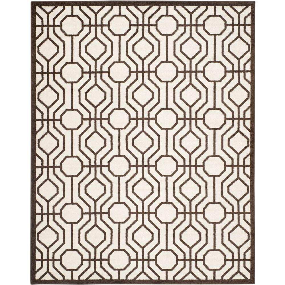 Amherst Ivory/Brown 9 ft. x 12 ft. Indoor/Outdoor Area Rug