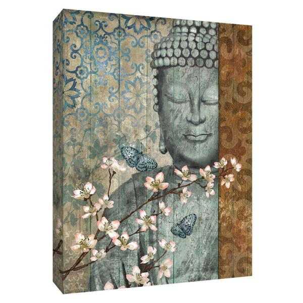 Awe Inspiring 12 In X 10 In Buddha Canvas Wall Art Home Interior And Landscaping Eliaenasavecom