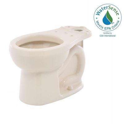 H2Option Siphonic Dual Flush Round Front Toilet Bowl Only in Bone