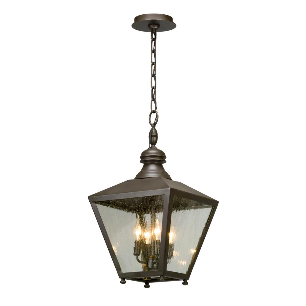 Porch Light Pendant: Troy Lighting Mumford 4-Light Bronze Outdoor Pendant-F5197