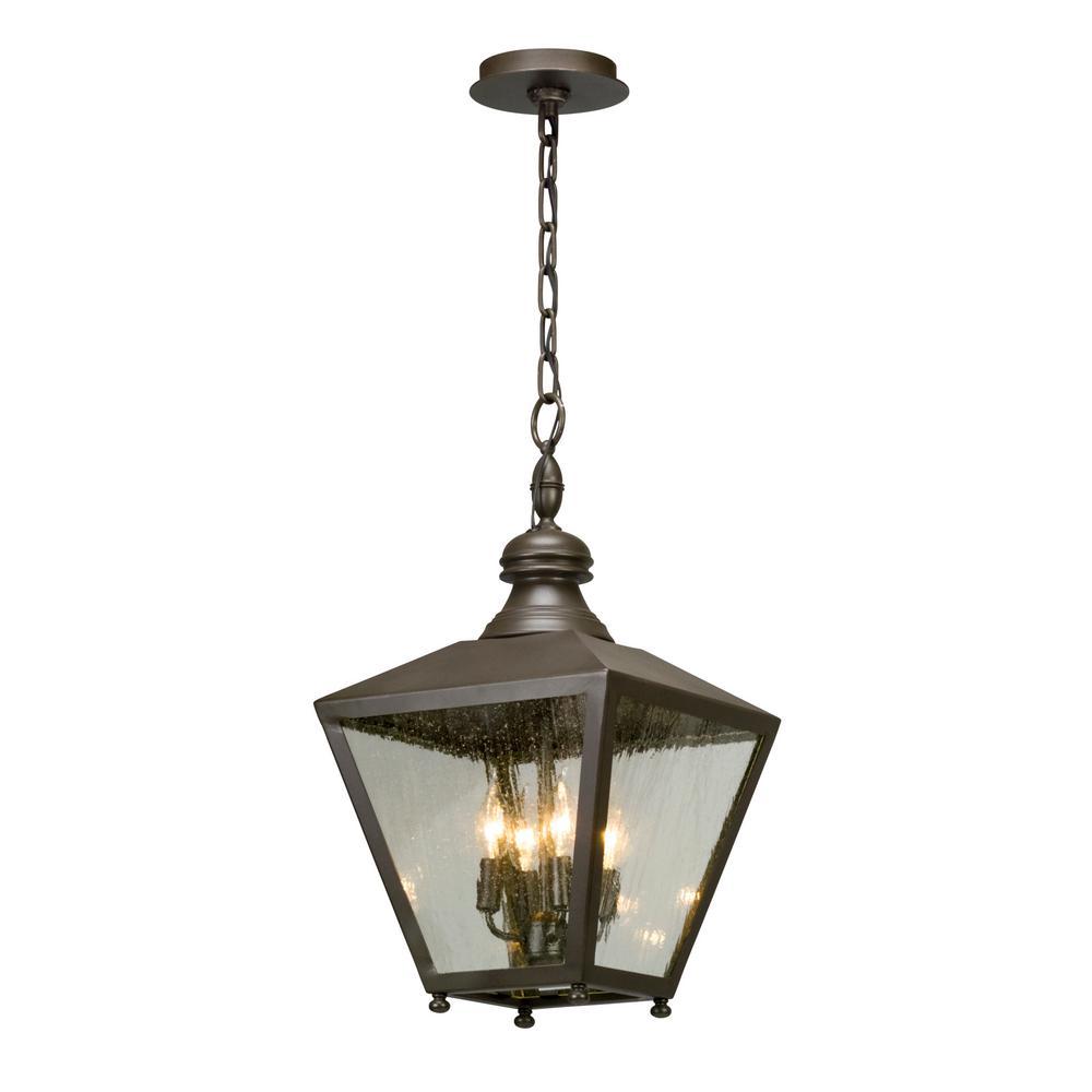 Outdoor Pendant Porch Light Uk: Troy Lighting Mumford 4-Light Bronze Outdoor Pendant-F5197